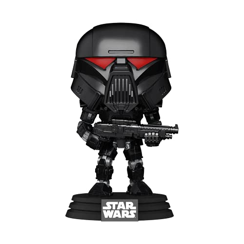 Funko 58289 POP Star Wars: Mandalorian- Dark Trooper (Battle)