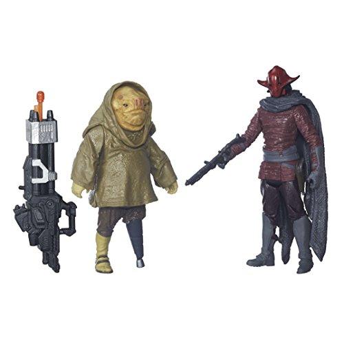 """Star Wars Figuren Sidon Ithano und Quiggold aus &bdquo Erwachen der Macht"""", 9,5cm groß–2-teiliges Set"""