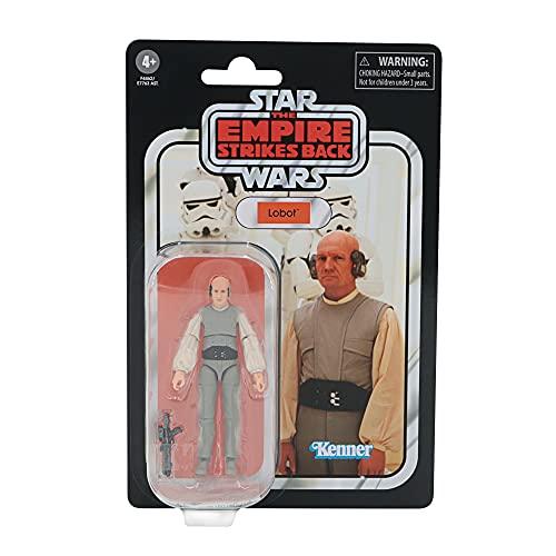 Hasbro Star Wars The Vintage Collection Lobot, 9,5 cm große Star Wars: Das Imperium schlägt zurück Action-Figur, Spielzeug für Kids ab 4