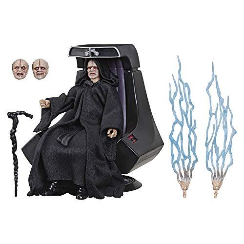 Hasbro Star Wars E6125EU4 The Black Series Imperator Palpatine Action-Figur mit Thron 15 cm zu Star Wars: Die Rückkehr der Jedi-Ritter