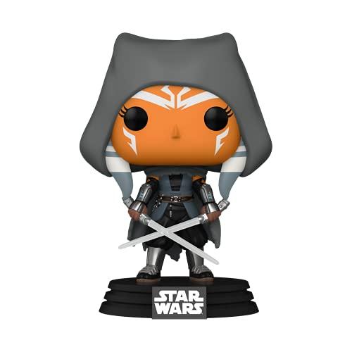 Funko Pop! Star Wars: The Mandalorian - Ahsoka mit Kapuze und Duell-Säbeln
