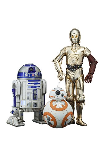 Kotobukiya Star Wars - Episode Vii: C-3Po + R2-D2 + Bb-8 (3 Pack) PVC Statues (1/10)