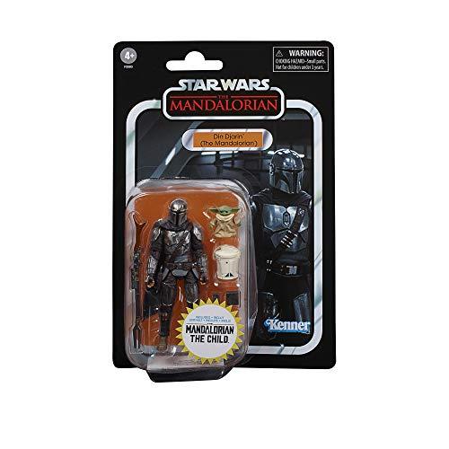 Hasbro Star Wars The Vintage Collection Din Djarin (The Mandalorian) und The Child Spielzeuge, 9,5 cm große Action-Figuren für Kids ab 4 Jahren