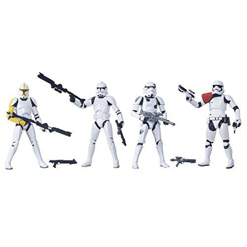 Star Wars Black Series 6 Zoll Figuren Trooper Builder 4 Pack (vorlaufig) gemalt Actionfigur