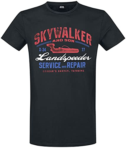 STAR WARS Landspeeder Repair T-Shirt schwarz S