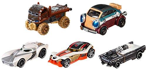 Mattel Hot Wheels DJP17 - Verkehrsmodelle, Star Wars Helden des Widerstands 5-er Pack