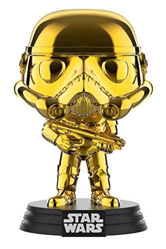 Star Wars Funko – 37653 Chrome Stormtrooper – 2019 Galactic Convention – Vinyl Figur, 9cm (UK Exclusive)