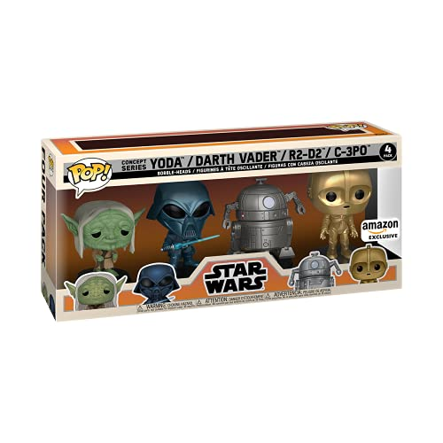 Funko 58868 POP Star Wars: Retro Star Wars- 4PK (Amazon Exclusive)