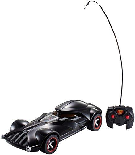 Hot Wheels FBW75 Star Wars Darth Vader RC Fahrzeug mit Lights und Sounds, Ferngesteuertes Auto mit Controller, Spielzeug ab 3 Jahren