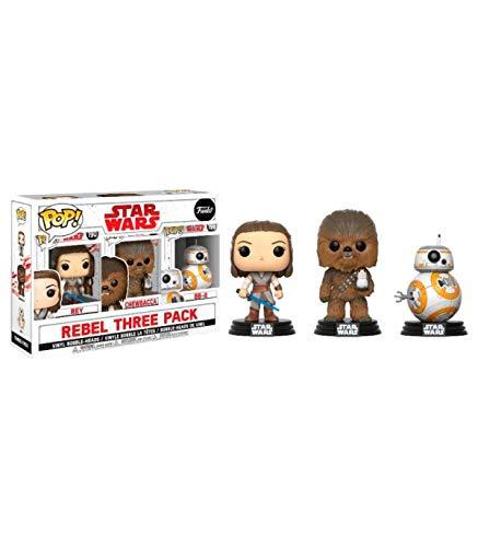 Funko Jedi-3Pack Rey, Chewbacca, Bb-8 Star Wars The Last Jedi Figur, Mehrfarbig, 26487