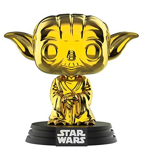 Star Wars Funko – 37651 Chrome Yoda – 2019 Galactic Convention – Vinyl Figur, 9cm (UK Exclusive)