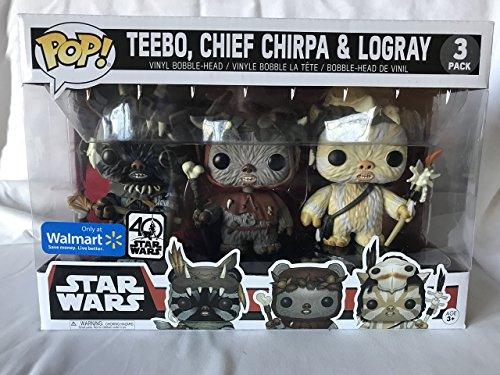 3er Pack POP! Star Wars: Teebo Chirpa Logray Limited