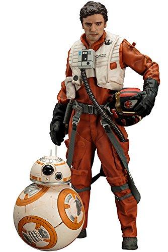 Kotobukiya Star Wars Episode VII ARTFX+ Statuen 1/10 Doppelpack Poe Dameron & BB-8 7 - 18 cm, rot, 110, SW122