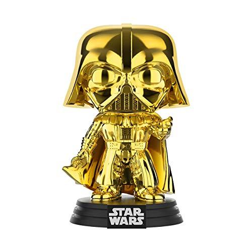 Funko – 3739 – Star Wars – Chrome Darth Vader – Vinyl Figur,ca. 9cm (2019 Galactic Convention)