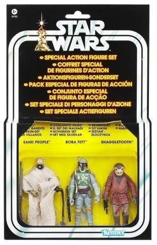 Star Wars Vintage-Special 3 Action Figure Droid Set; Sand Menschen, Boba Fett, Snaggletooth