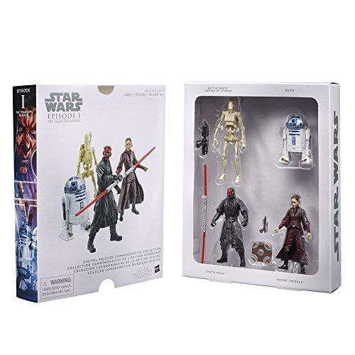 Hasbro Star Wars Episode I Digital Release Commemorative Collector Set mit 4 Figuren