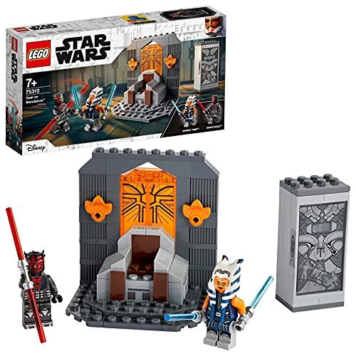 LEGO 75310 Star Wars Duell auf Mandalore, Bauset für Jungen und Mädchen ab 7 Jahren mit Darth Maul und Lichtschwertern