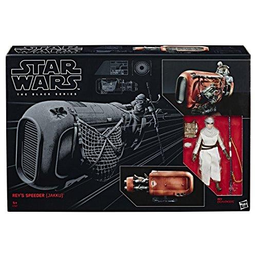 Hasbro Star Wars C1427EU4 The Black Series 6' Rey & Speeder, Spielset
