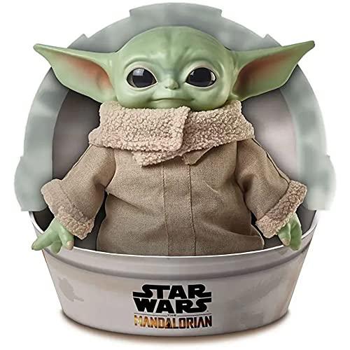 """Disney Star Wars GWD87 - Plüschspielzeug mit Geräusch- und Bewegungsfunktion, ca. 28 cm große Yoda Baby-Figur aus """"The Mandalorian"""", Plüschfigur zum Sammeln, ab 3 Jahren"""