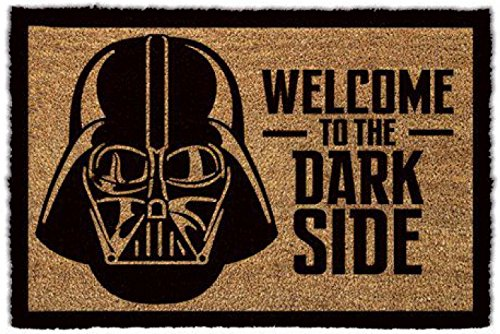 1art1 Star Wars - Darth Vader, Willkommen Auf Der Dunklen Seite Fußmatte Innenbereich und Außenbereich   Design Türmatte 60 x 40 cm