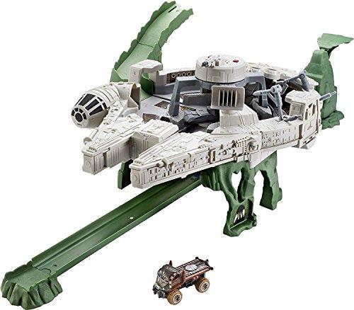 Mattel Hot Wheels DWM85 - Star Wars Episode 8 Millenium Falke Spielset