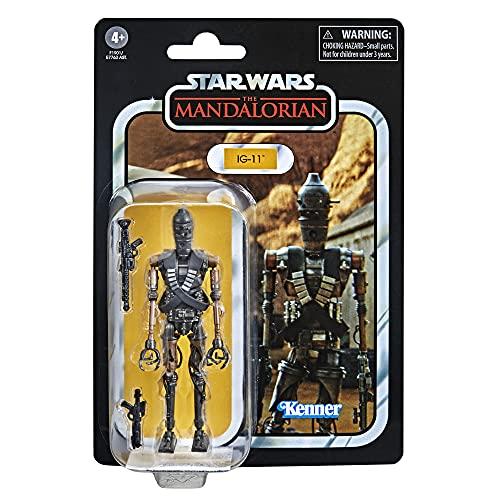 Hasbro Star Wars F1901 Star Wars Vintage Collection IG-11, 9,5 cm Skala, The Mandalorian Actionfigur, Spielzeug für Kinder ab 4 Jahren, Mehrfarbig