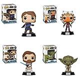 Funko POP! Star Wars: The Clone Wars - Vinyl Figures (Ahsoka + Yoda + Obi-Wan + Anakin)