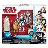 Star Wars : Die letzten Jedi – Force Link – Sammelfiguren-Pack mit Luke Skywalker, Rose, Rey und First Order Stormtrooper Officer
