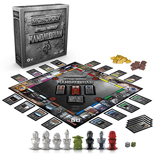 Hasbro BGF1276UE2 Monopoly: Star Wars The Mandalorian Edition Board Game, Protect The Child Baby Yoda from Imperial Enemies (englische Sprachausgabe)