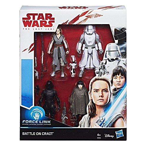 Hasbro Star Wars E0321EU4 Episode 8'FORCE LINK Actionfiguren, 4er Pack, 3.75 Zoll