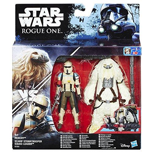 Hasbro Star Wars B7261El2 - Rogue One Battle-Action Basisfiguren 2Er Pack - Scarif Stormtrooper and Moroff Actionfigur