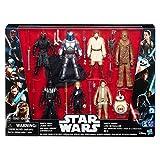 Spielfiguren Star Wars Megaset Spiel- und Sammel Figuren 8-er Pack - mit Darth Maul, Jango Fett, Obi-Wan Kenobi, Chewbacca, Darth Vader, Luke Skywalker, Rey, BB-8