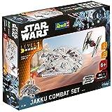 Revell Modellbausatz Star Wars Jakku Combat Set im Maßstab 1:51, Level 1, originalgetreue Nachbildung mit vielen Details, Build & Play mit Light&Sound, zum Bauen & Spielen, 06758