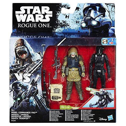 Hasbro Star Wars B7259El2 - Rogue One Battle-Action Basisfiguren 2Er Pack - Death Trooper Rebel Command Pao Actionfigur