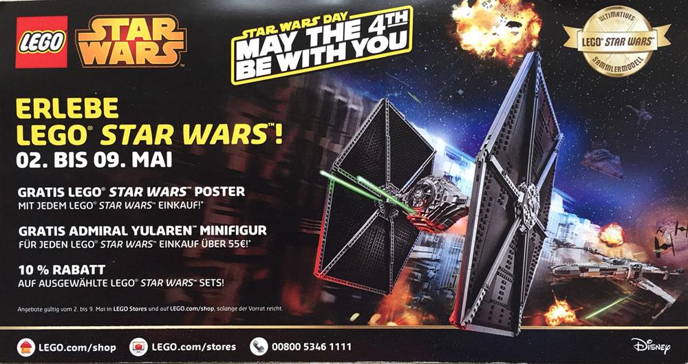 Große LEGO Promotion-Aktion zum weltweiten Star Wars Day