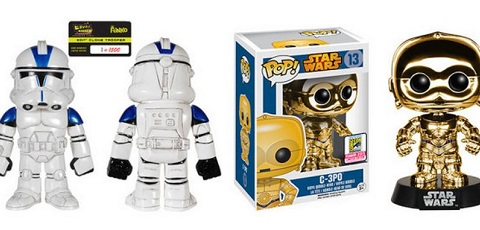 SDCC 2015 Star Wars Exclusive Funko Figuren