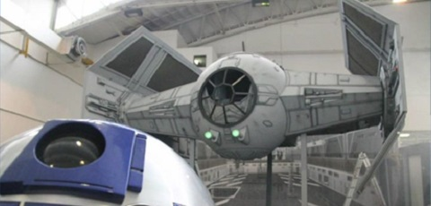 Darth Vaders TIE Fighter auf der Noris Force Con 4