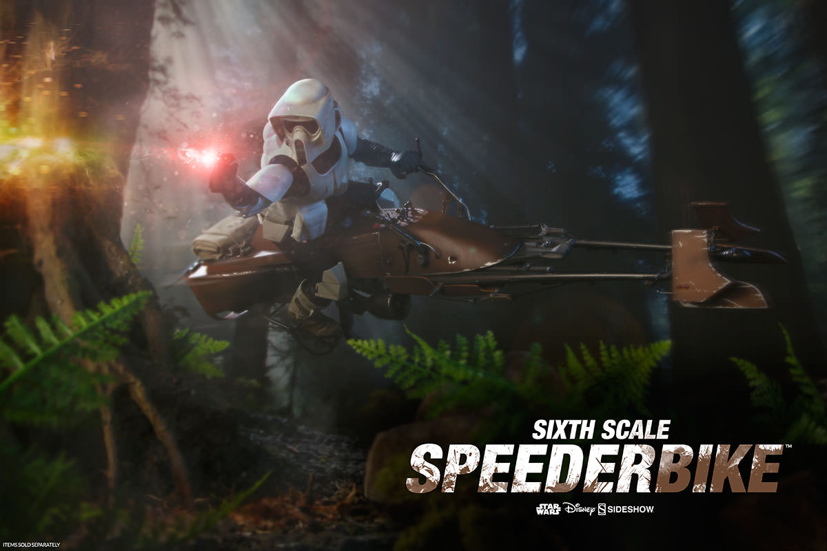 Sideshow 1/6 Scale Scout Trooper & Speeder Bike erneut verfügbar