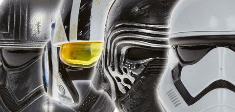 Das sind die ersten Hasbro Star Wars The Black Series Titanium Series Helmets!