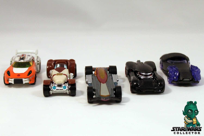 Hot Weels Character Cars 5-Pack – Dark Side vs. Light Side