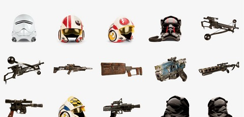 #shortcut: 50 Battle Props aus Star Wars: The Force Awakens