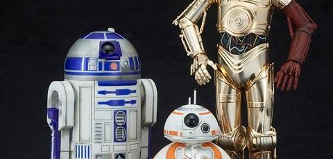 #shortcut: Kotobukiya zeigt C-3PO & R2-D2 with BB-8 aus The Force Awakens