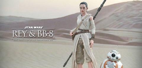 Beeindruckendes Hot Toys Rey & BB-8 Collectible Set präsentiert!