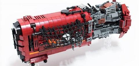 Fan entwirft LEGO Star Wars Rey's Speeder Custom Type!