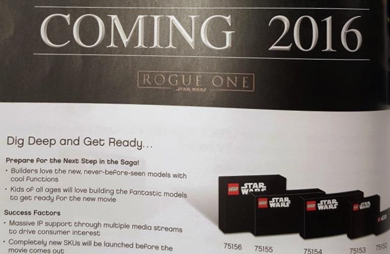 Offizielle Namen der LEGO Star Wars Rogue One Sets bekannt
