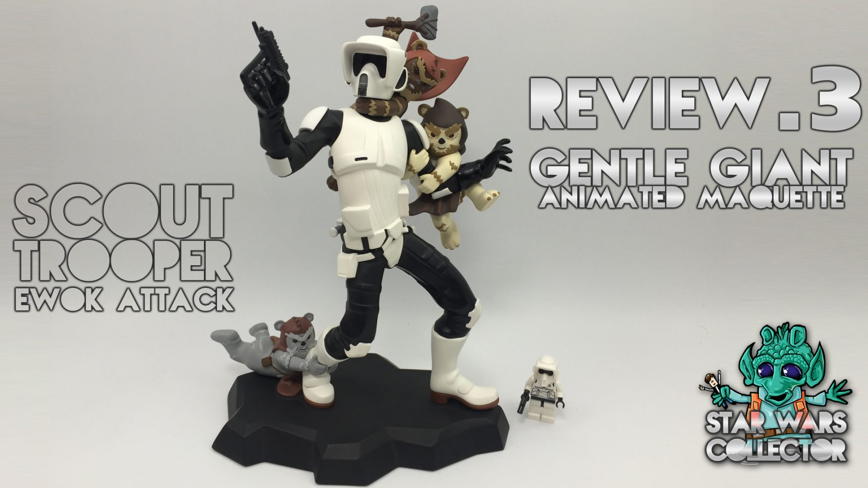 #review: Gentle Giant Scout Trooper Animated Maquette – Video
