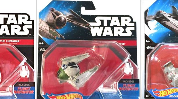 #shortcut: Drei neue Hot Wheels Star Wars Die-Cast Modelle
