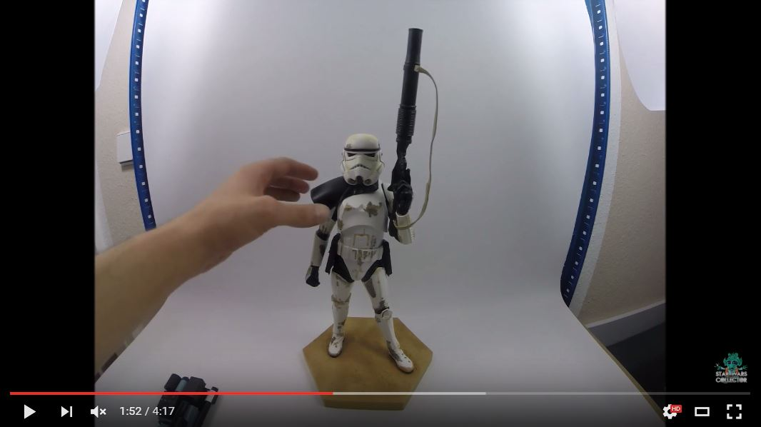 #review: Kotobukiya ArtFX Sandtrooper Corporal 1/7 – Video