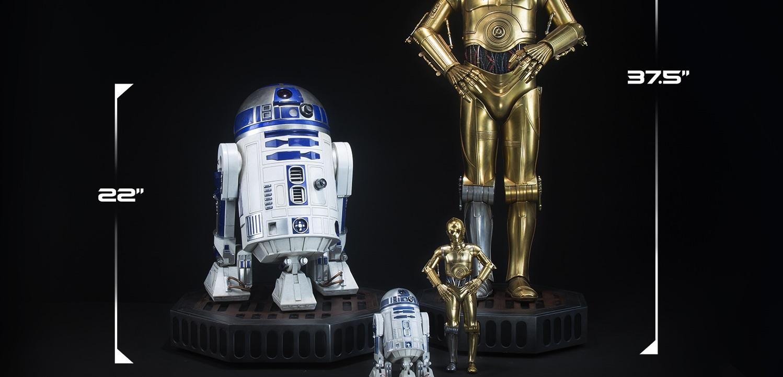 Sideshow R2-D2 & C-3PO Legendary Scale Figuren verfügbar!