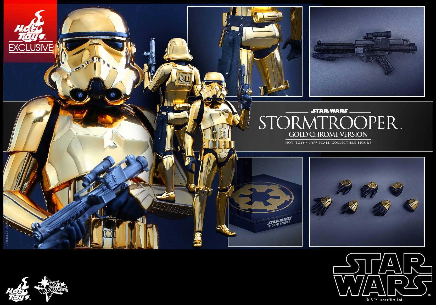Offizielle Bilder zum Hot Toys Gold Chrome Stormtrooper